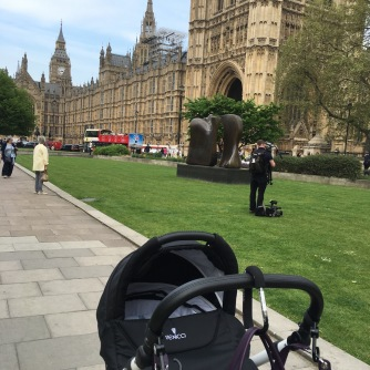 Just popping in to Westminster to vote on some important pram business