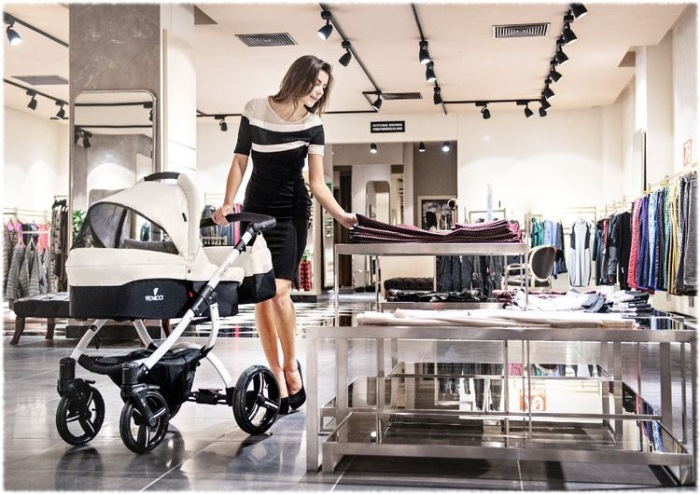 Naturellement the perfect pram for shopping which is what all mums do all day long