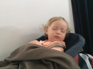 Sleeping peacefully...until turbulence