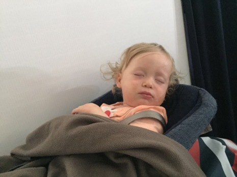 Sleeping peacefully...until turbulence