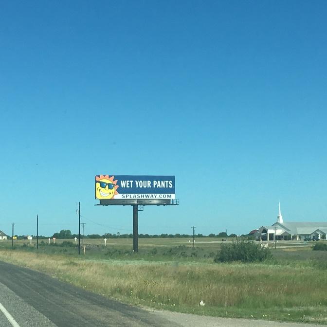 Standard Texas signage